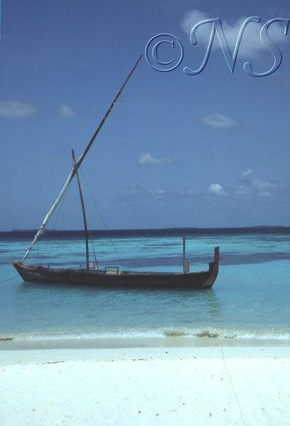 Bateau à Thulaghiri, Maldives 1986