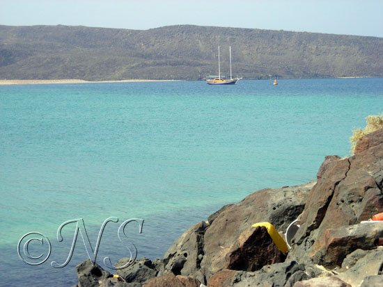 Le Déli vu de l'île des boutres Golfe de Tadjoura Djibouti