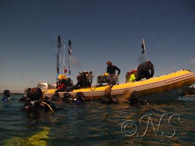 Bateau de plongée, Golfe du Morbihan