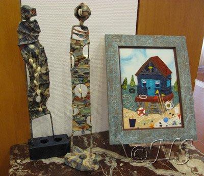 Statuettes et maison de pêcheur