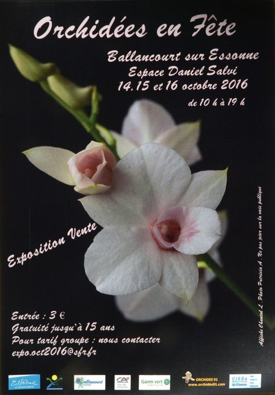 Affiche Exposition orchidées Ballancourt 2016