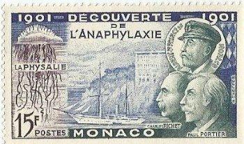 1953-cinquantenaire-de-la-decouverte-de-l-anaphylaxie-par-les-professeurs-charles-richet-et-paul-portier-1901