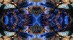 Bleu des profondeurs en forme artistique indienne
