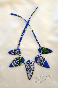 NS collier tissu africain NB vert bleu